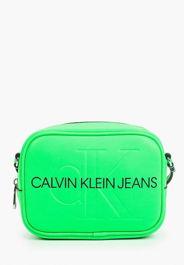женская сумка calvin klein, зеленая