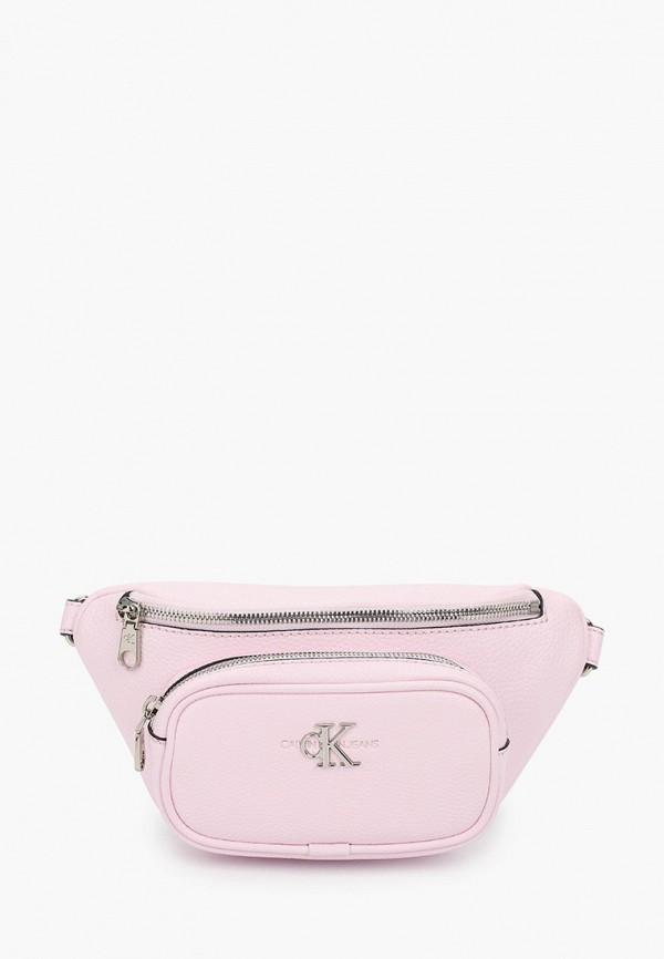 женская поясные сумка calvin klein, розовая