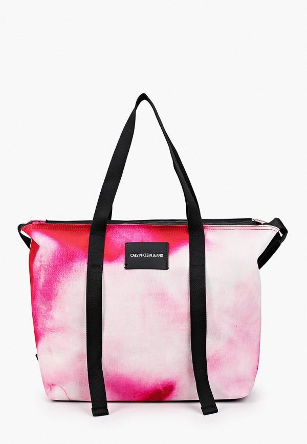 женская сумка calvin klein, розовая