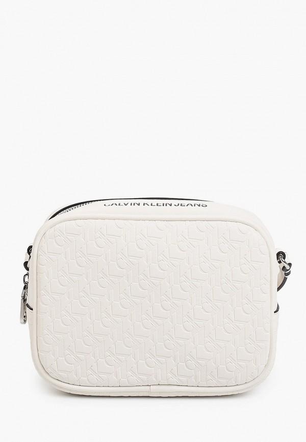 женская сумка calvin klein, белая
