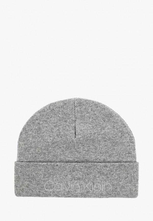мужская шапка calvin klein, серая