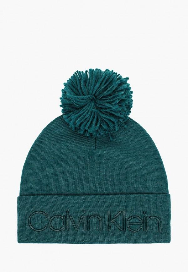 мужская шапка calvin klein, зеленая