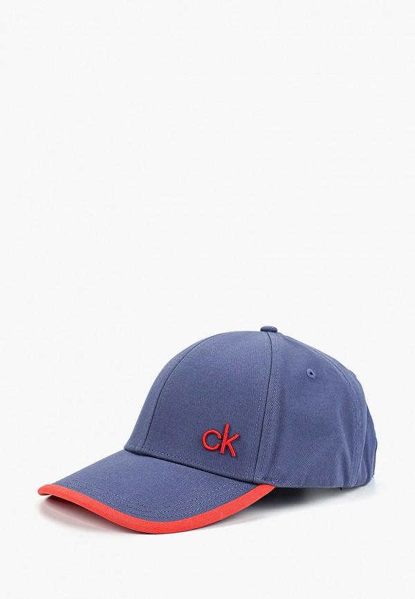 мужская бейсболка calvin klein, синяя
