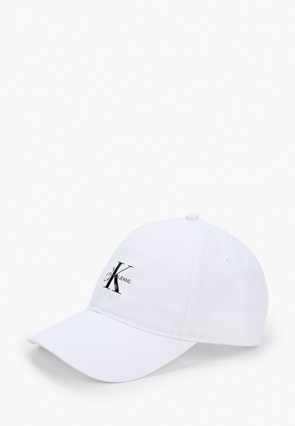 мужская бейсболка calvin klein, белая