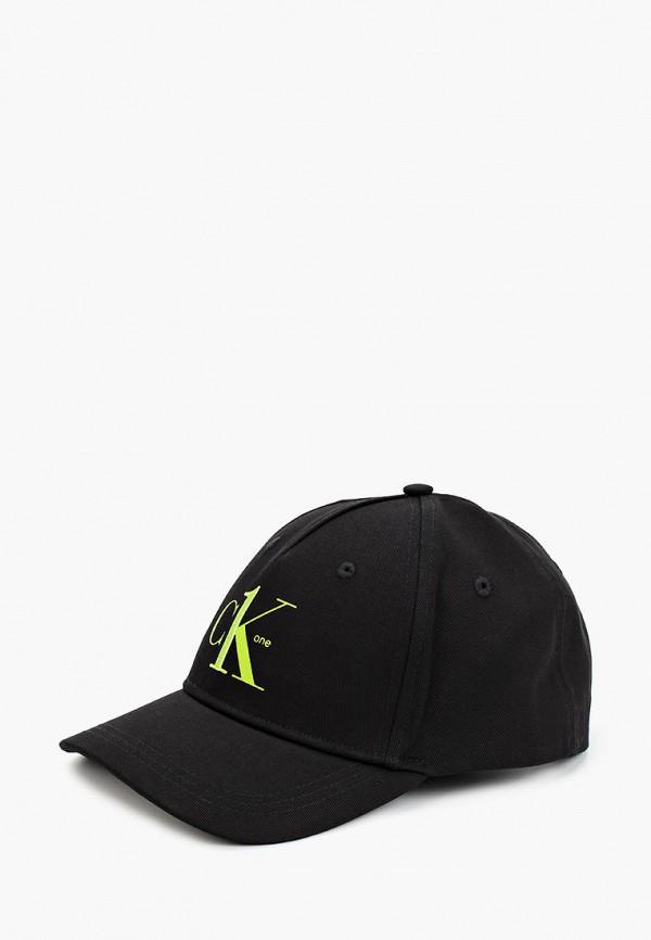 мужская бейсболка calvin klein, черная