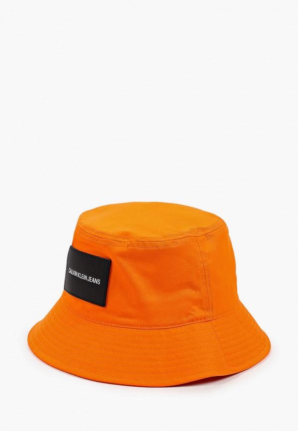 женская панама calvin klein, оранжевая