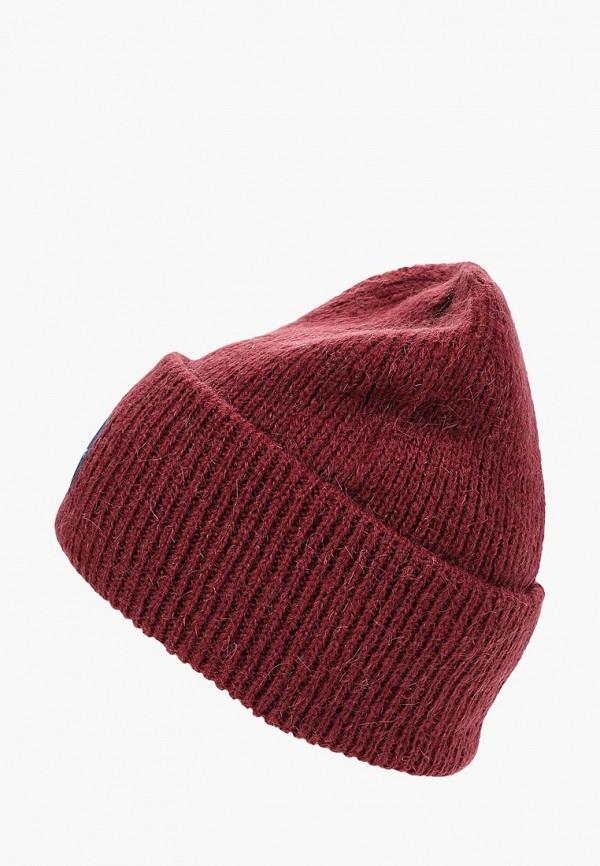 женская шапка calvin klein, бордовая