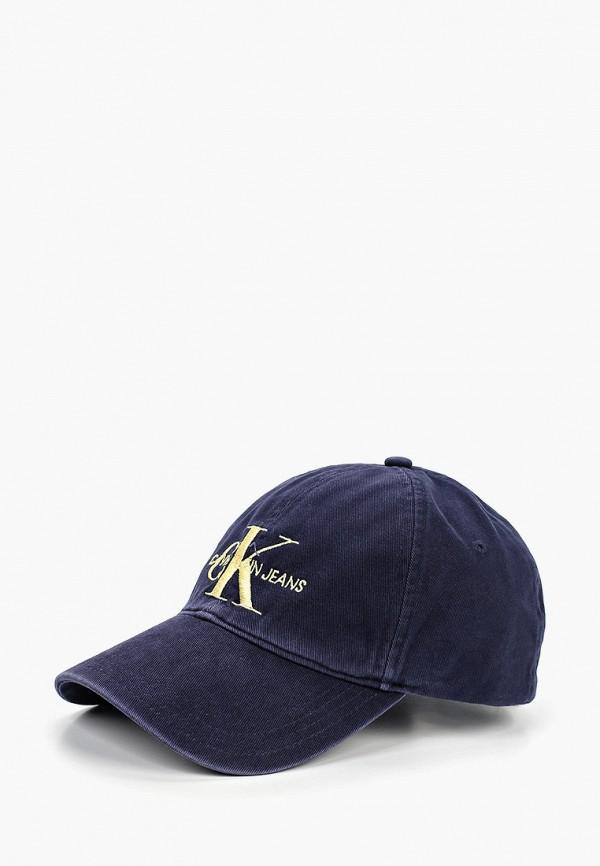 женская бейсболка calvin klein, синяя