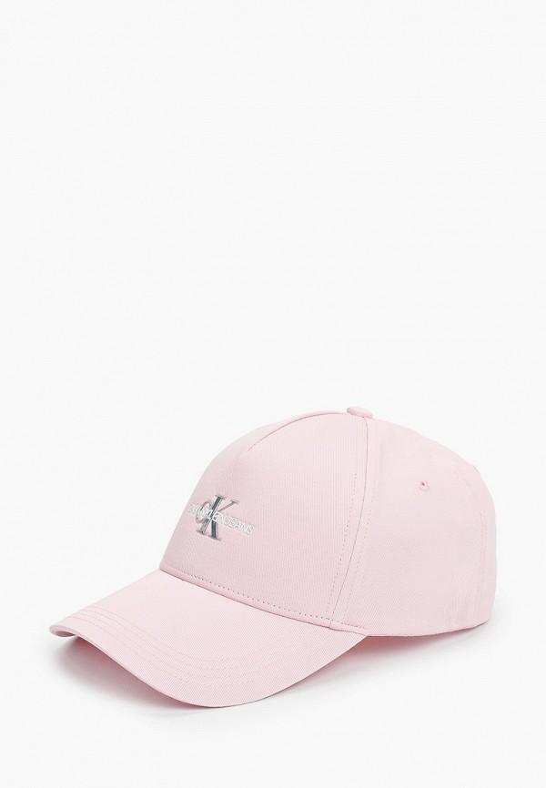 женская бейсболка calvin klein, розовая