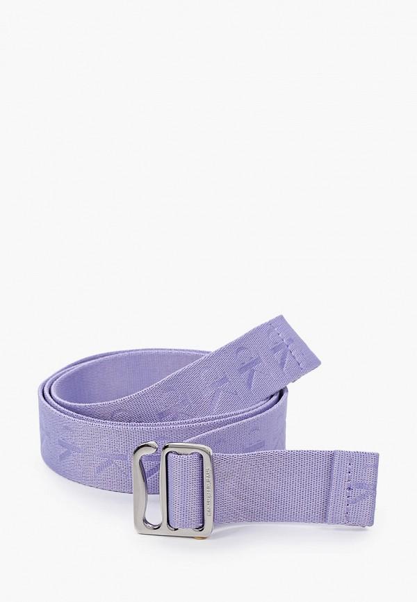 женский ремень calvin klein, фиолетовый