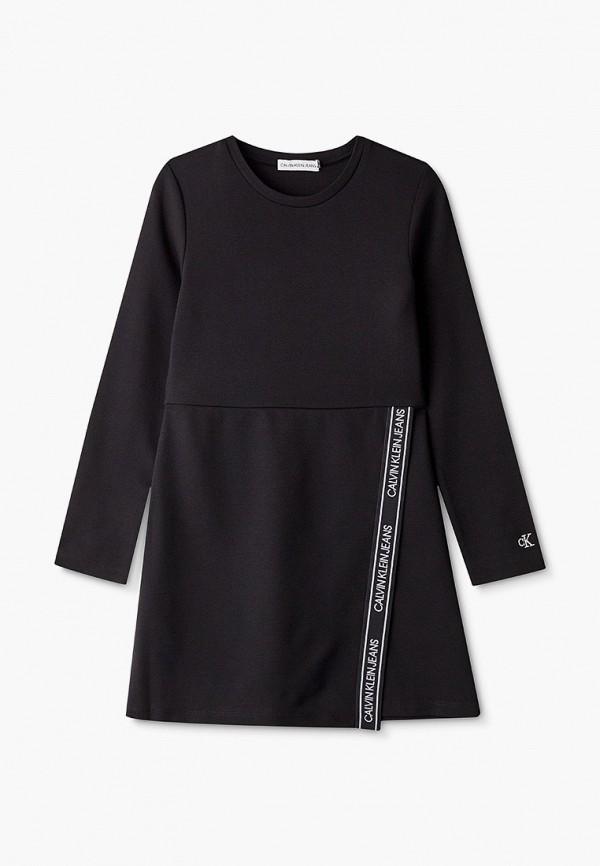 повседневные платье calvin klein для девочки, черное