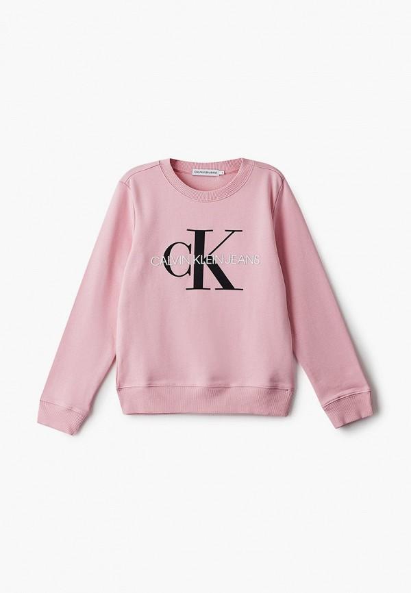 свитшот calvin klein малыши, розовый