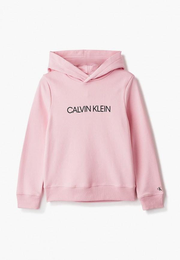 худи calvin klein малыши, розовые