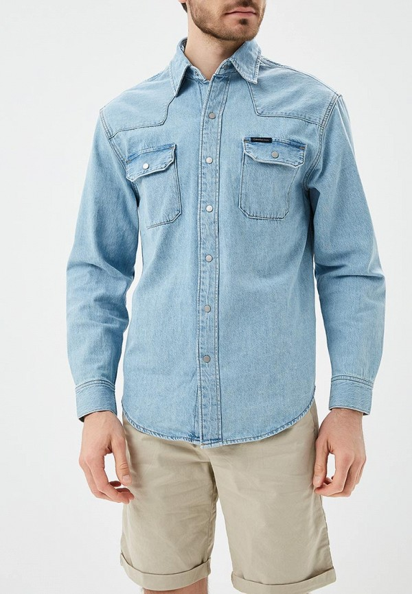 Рубашка джинсовая Calvin Klein Jeans Calvin Klein Jeans CA939EMAPQV7 рубашка calvin klein jeans j20j2 06431 1120