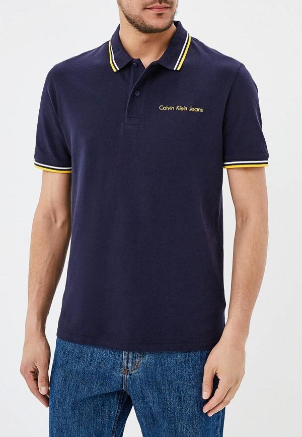 Купить Поло Calvin Klein Jeans, ca939emapqw2, синий, Весна-лето 2018