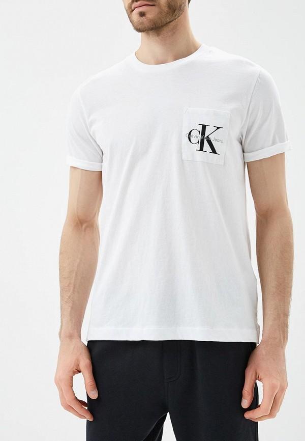 Футболка Calvin Klein Jeans, CA939EMAPQX9, белый, Весна-лето 2018  - купить со скидкой