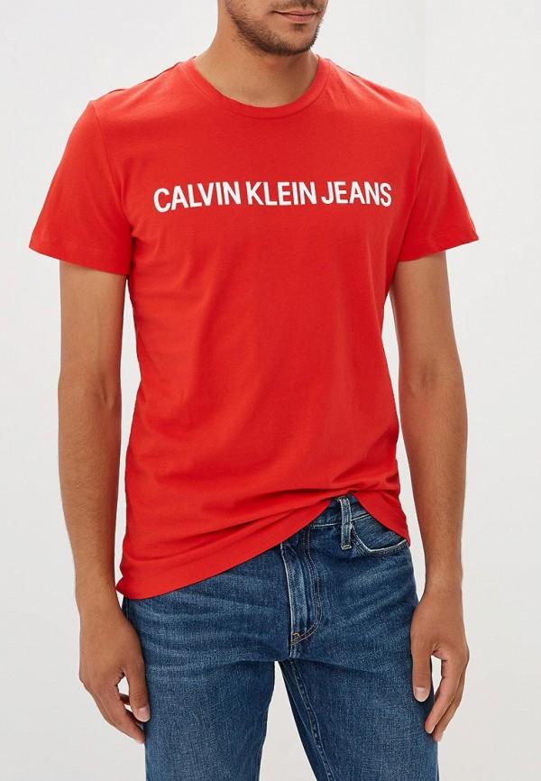 Купить Футболка Calvin Klein Jeans, CA939EMBTHL1, красный, Осень-зима 2018/2019