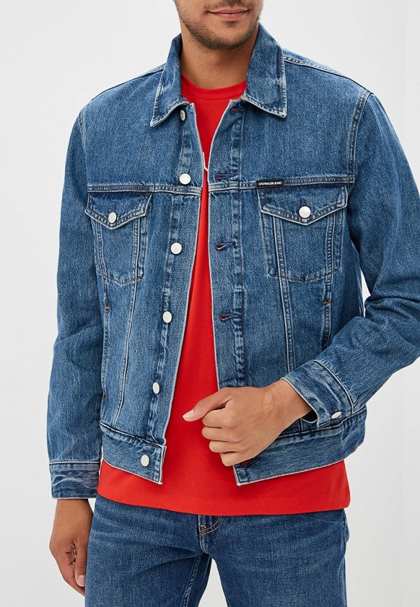 Купить Куртка джинсовая Calvin Klein Jeans, CA939EMBTHL8, синий, Осень-зима 2018/2019