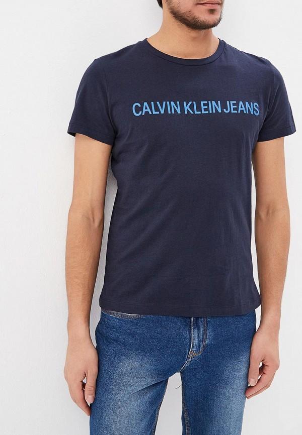 Купить Футболка Calvin Klein Jeans, ca939emducx8, синий, Весна-лето 2019