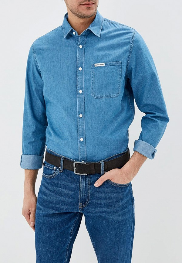 Рубашка джинсовая Calvin Klein Jeans Calvin Klein Jeans CA939EMDUKP2 рубашка женская calvin klein jeans цвет синий j20j209111 9110 размер xs 40 42