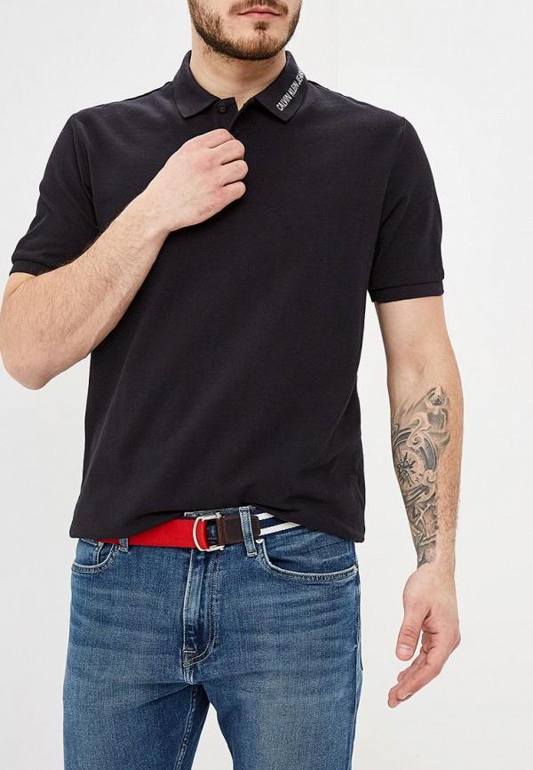 Купить Поло Calvin Klein Jeans, ca939emdukp7, черный, Весна-лето 2019