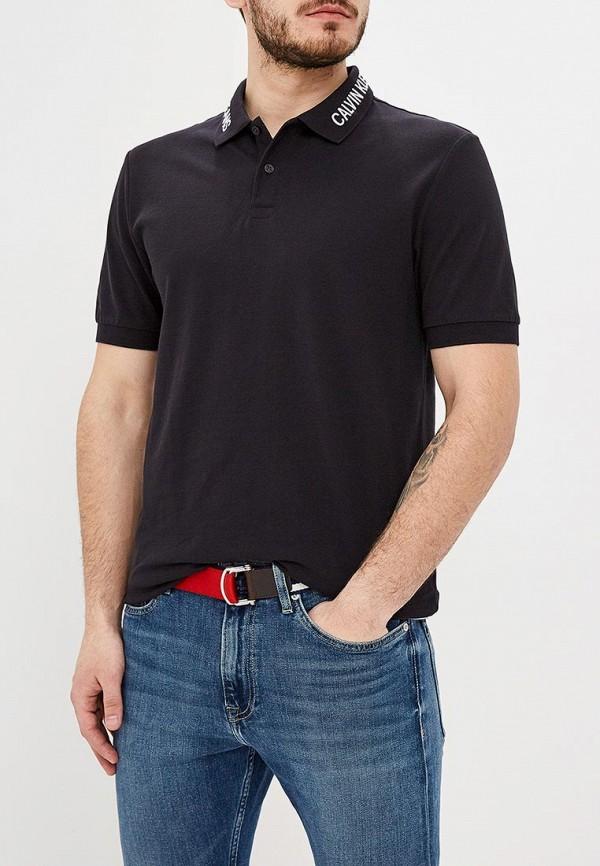 Купить Поло Calvin Klein Jeans, ca939emdukq0, черный, Весна-лето 2019