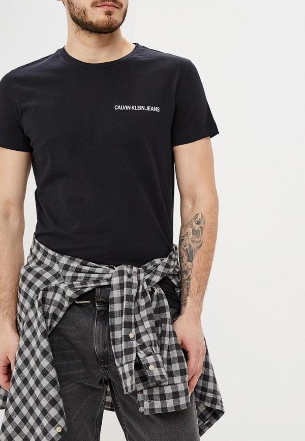 мужская футболка с коротким рукавом calvin klein, черная