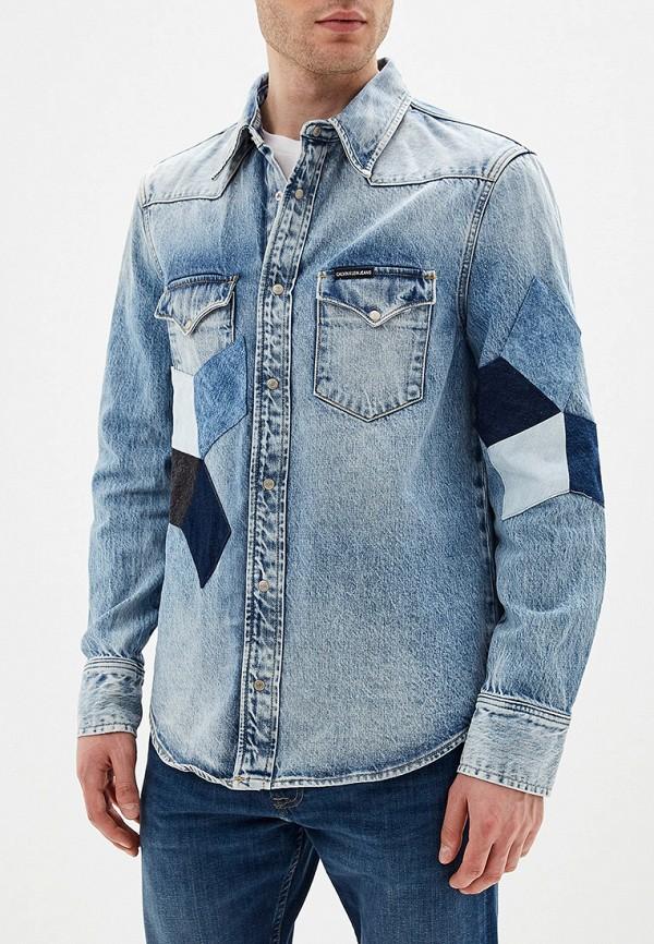 Рубашка джинсовая Calvin Klein Jeans Calvin Klein Jeans CA939EMFQWK5 рубашка женская calvin klein jeans цвет синий j20j209111 9110 размер xs 40 42