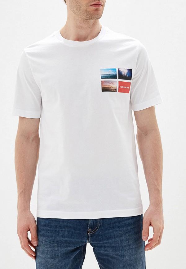 мужская футболка calvin klein, белая
