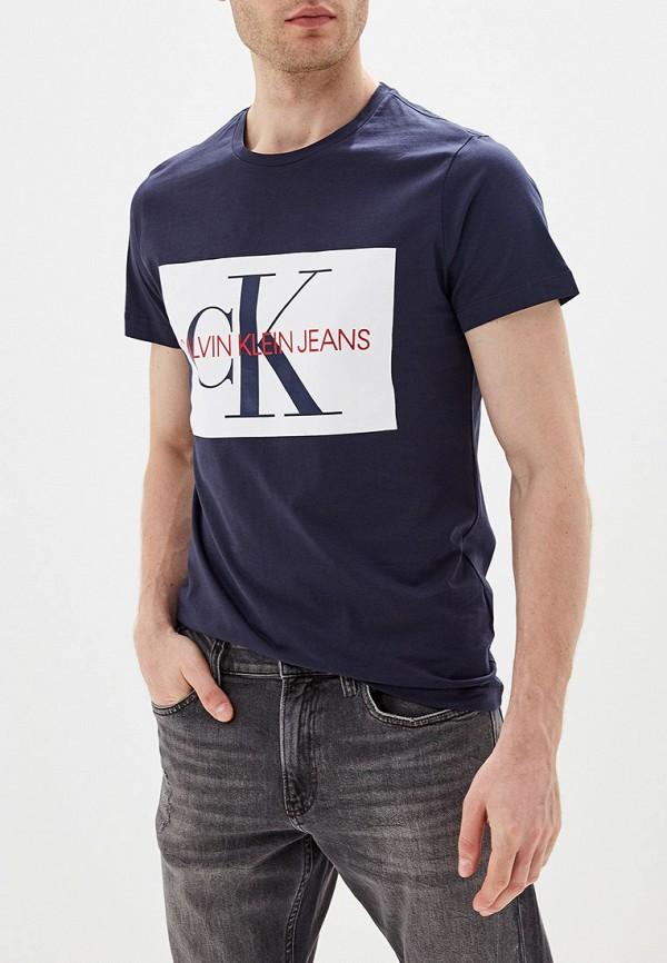 Футболка Calvin Klein Jeans Calvin Klein Jeans CA939EMFQWY1 рубашка женская calvin klein jeans цвет синий j20j209111 9110 размер xs 40 42