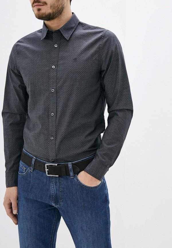 мужская рубашка с длинным рукавом calvin klein, серая