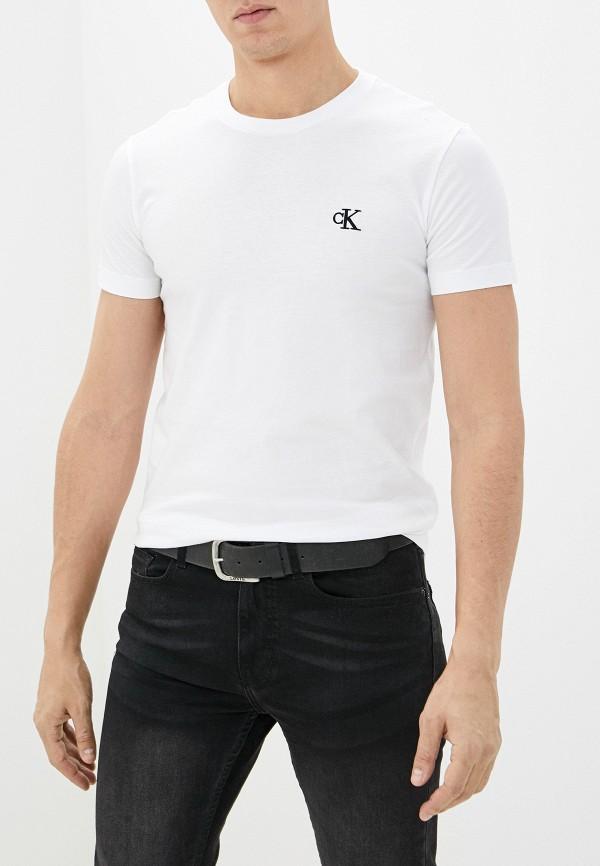мужская футболка с коротким рукавом calvin klein, белая