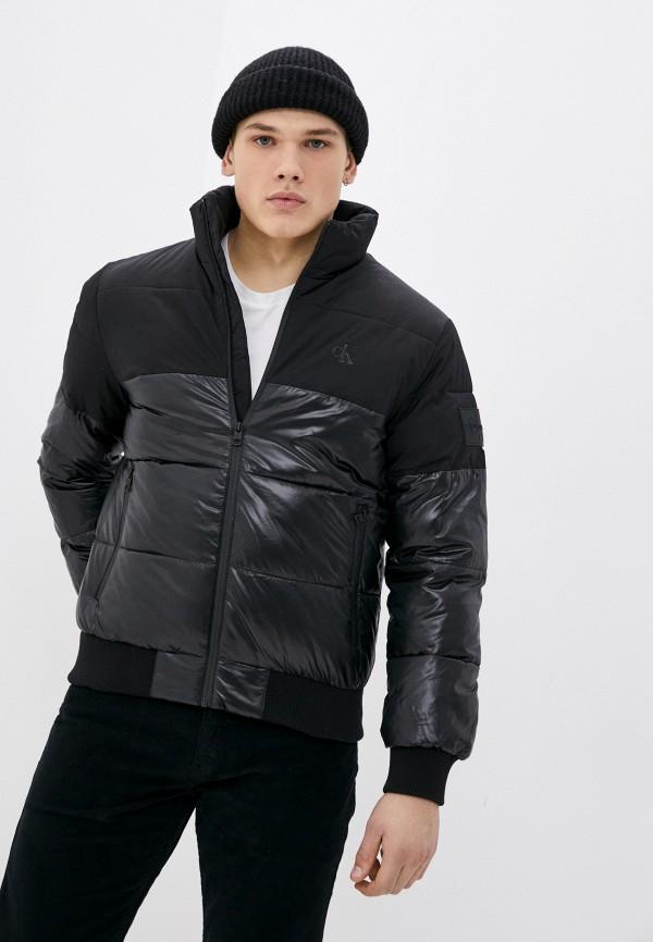 мужская утепленные куртка calvin klein, черная