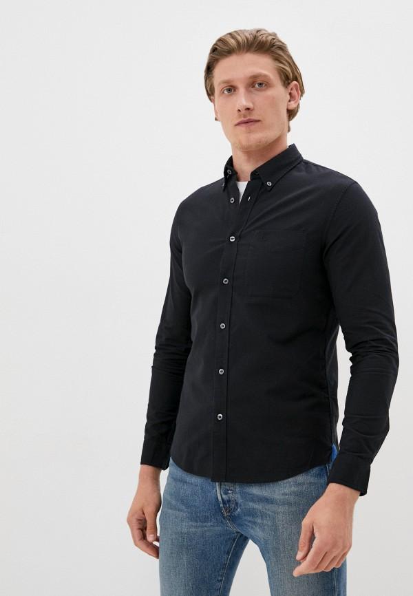 мужская рубашка с длинным рукавом calvin klein, черная