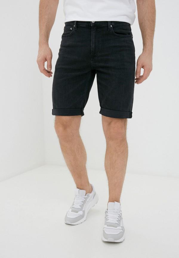 мужские джинсовые шорты calvin klein, черные