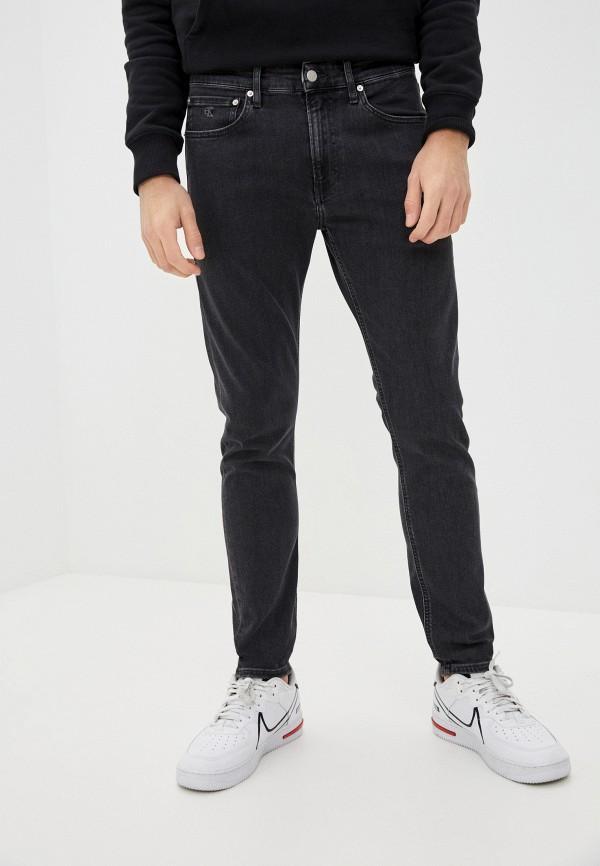 мужские зауженные джинсы calvin klein, серые