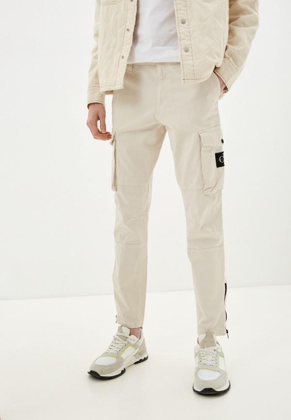 мужские брюки карго calvin klein, бежевые