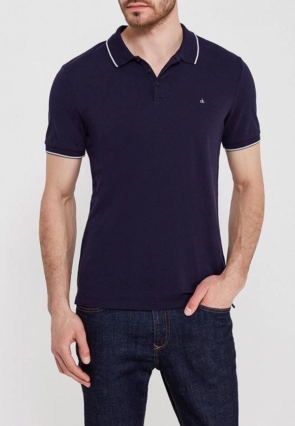 Купить Поло Calvin Klein Jeans, CA939EMZJT09, синий, Весна-лето 2018