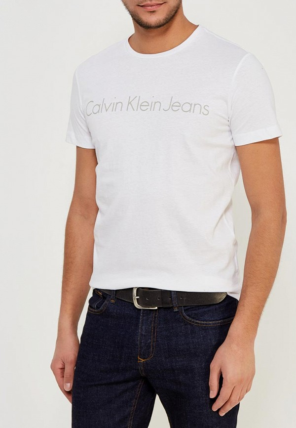 Футболка Calvin Klein Jeans Calvin Klein Jeans CA939EMZJT21 свитшот calvin klein jeans calvin klein jeans ca939ewzjs33