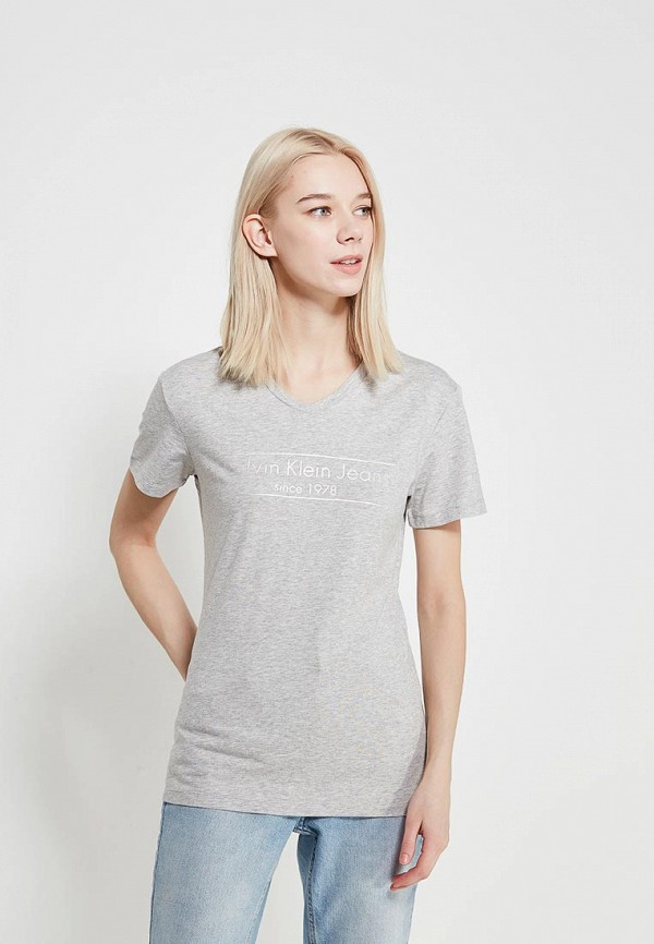 Купить Футболка Calvin Klein Jeans, ca939ewaqih6, серый, Весна-лето 2018