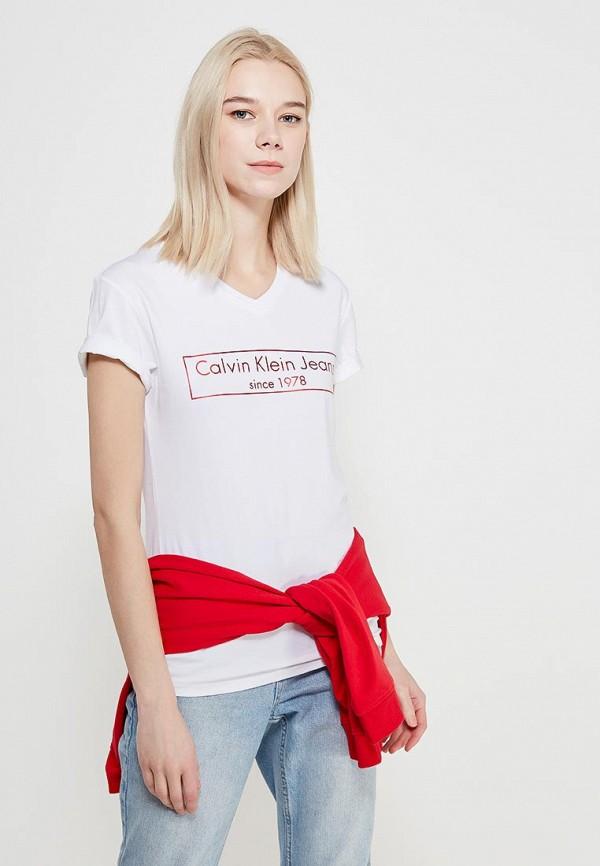 Футболка Calvin Klein Jeans Calvin Klein Jeans CA939EWAQIH7 футболка calvin klein jeans calvin klein jeans ca939ewaqij7