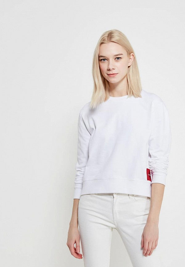 Купить Свитшот Calvin Klein Jeans, CA939EWAQIJ5, белый, Весна-лето 2018