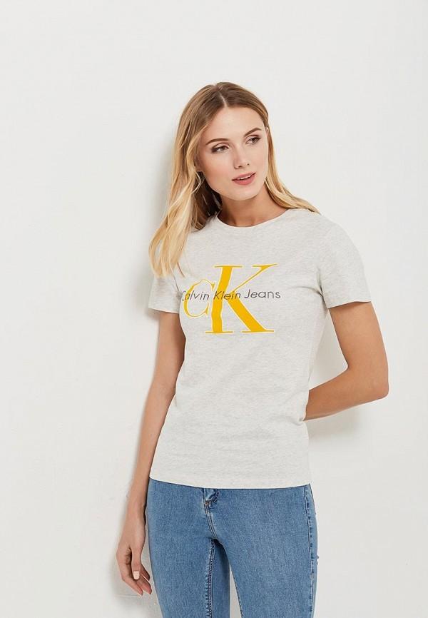 Купить Футболка Calvin Klein Jeans, ca939ewaups9, серый, Весна-лето 2018