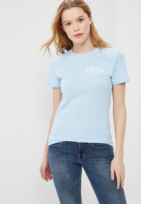 Купить Футболка Calvin Klein Jeans, CA939EWAUPT3, голубой, Весна-лето 2018