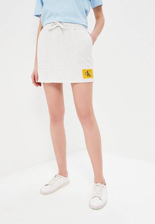 Купить Юбка Calvin Klein Jeans, ca939ewaupt5, серый, Весна-лето 2018