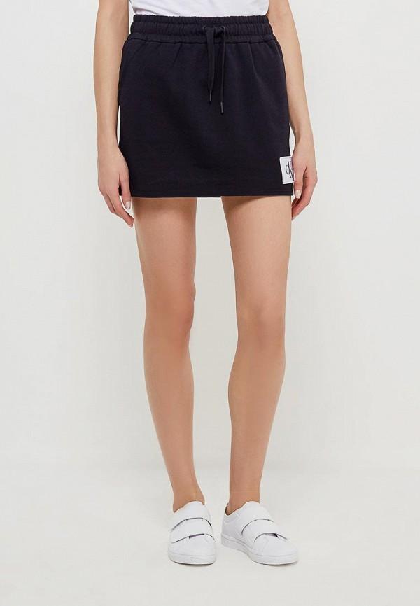 Купить Юбка Calvin Klein Jeans, CA939EWAUPT6, черный, Весна-лето 2018