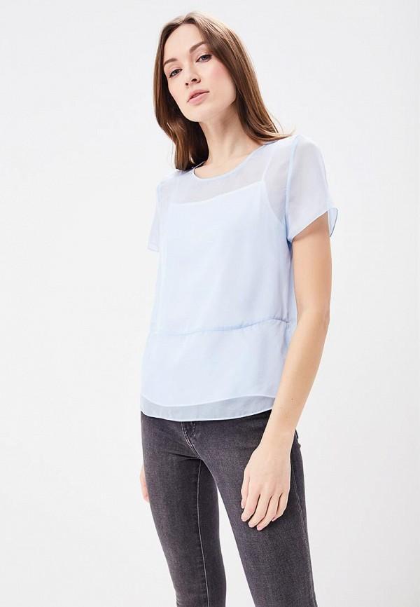 Купить Блуза Calvin Klein Jeans, CA939EWBCAW2, голубой, Весна-лето 2018