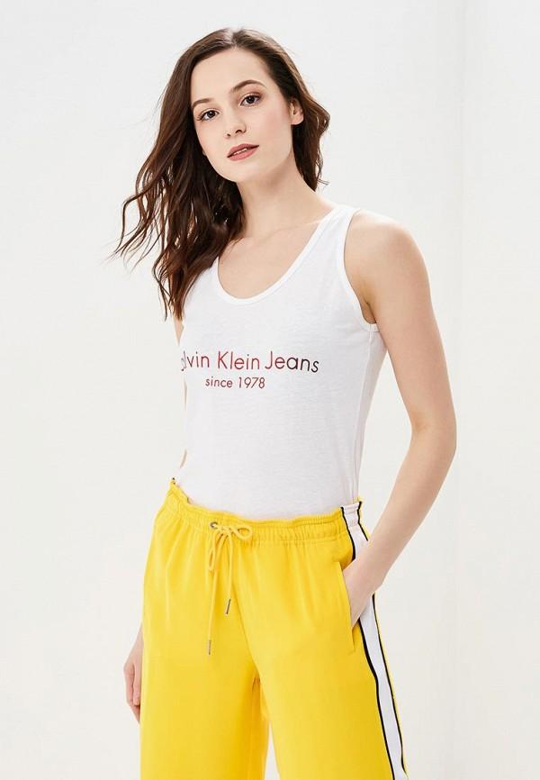 Майка Calvin Klein Jeans Calvin Klein Jeans CA939EWBCAX4 толстовка calvin klein jeans calvin klein jeans ca939ewaqih3