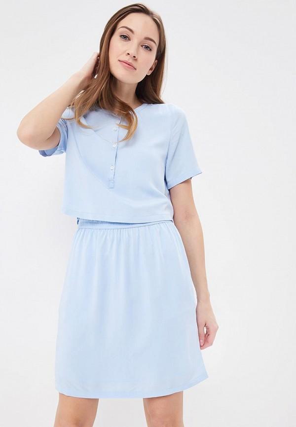 Купить Платье Calvin Klein Jeans, CA939EWBCAX8, голубой, Весна-лето 2018