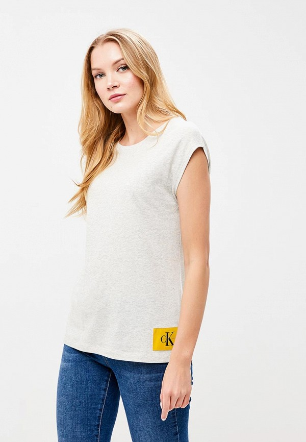 Купить Футболка Calvin Klein Jeans, CA939EWBCAZ0, белый, Весна-лето 2018
